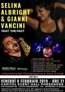 SELINA ALBRIGHT & GIANNI VANCINI feat. The Pact__Capitol Pordenone_ 8 Febbraio 2019
