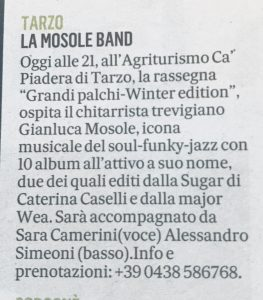 Gianluca Mosole Band Live