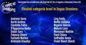 Voice for Europe Italia 2019: i finalisti